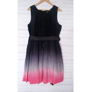 Kensie | Ombre Pink Black Dress